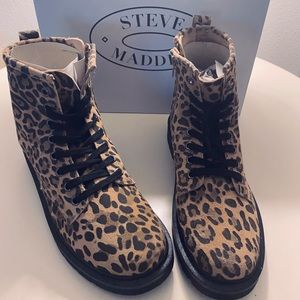 Steve Madden Cheetah combat, Cole combat boot